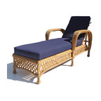 Wicker Paradise - Montauk Outdoor Wicker Patio Chaise - Stretch out in style and enjoy the outdoors in he Montauk Patio Wicker Chaise! Along with beautiful traditional styling, it offers wide arms and an adjustable back for maximum comfort.
