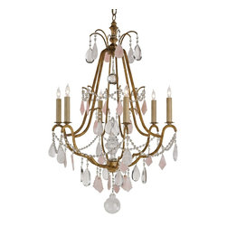 Currey and Company - Fairytale Chandelier - As if out of a fairy tale, this chandelier brings a magical touch to your dining room or entryway. Sparkling crystals reflect its warm glow, creating an ambience that will leave you spellbound.
