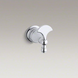 KOHLER - KOHLER Revival(R) robe hook - Bring the essence of Art Deco to your bathroom with Revival accessories, which incorporate elliptical shapes and rolled edges inspired by classic 1920s design. At home in both traditional and contemporary bathrooms, this solid-brass hook keeps your robe o