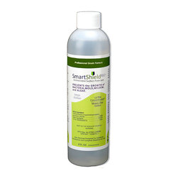 Frontgate - SmartShield Protectant Concentrate - 8 oz. concentrate bottle makes one gallon when diluted with water. Covers up to 1,200 sq. ft. when dispensed in a fogger or LVHP sprayer. EPA registered antimicrobial. Prevents mold, mildew, algae, fungus, and bacteria on indoor and outdoor surfaces. Prevents staining and odors on outdoor furniture cushions and wicker, rugs, umbrellas, awnings and sunscreens, shutters and blinds, hot tubs and spas, concrete pool aprons, outdoor kitchens, decorative stone, vehicle and RV covers, tents and canopies, exterior siding, decks, and fencing. Protect your beloved wicker, awnings, decks, spas, and more from mold and fungus with the water-based SmartShield Protectant Concentrate. The colorless and odorless solution can easily be applied to all hard and porous surfaces, with a single spray application lasting up to one year.  .  .  .  .  . Developed by Healthier Sciences . SmartShield technology binds to surfaces resisting regular washing . Effectively treats indoor/outdoor surfaces preventing microbial and bacterial growth for extended periods of time from just ONE application. Made in the USA.