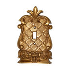 Hickory Manor House - Corinthian Single Switch Plate in Antique Gol - Vintage original. Custom made by artisans unfortunately no returns allowed. Enhance your decor with this graceful switch plate. Made in the USA. Made of pecan shell resin. Weight: 1 lb.