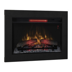 Dimplex - ClassicFlame 26-In Infrared Fireplace Insert & Flush Mount Conversion Kit 26II - The ClassicFlame 26 inch SpectraFire Plus Infrared Fireplace Insert and Flush Mount Conversion Kit makes installing your new fireplace a breeze. It won't be long before you'll have everything up and running and you'll be enjoying the flickering flames and supplemental heat created by the units powerful infrared heater. The flush mount kit lets you easily install it right into a finished wall or a cabinet if you wish. The kit ensures the proper air flow and provides professionally finished trim. The firebox features SpectraFlame technology for a truly life-like visual experience as well as control over the flame color (Speactrafire, Indigo, Violet, Traditional or Blue), speed and brightness so that you can create the perfect ambiance for your home. This electrical fireplace offers up to 1,000 square feet of supplemental heat taking the chill out of your room with ease. The integrated Safer Plug technology automatically detects if the unit is overheating and turns it off - preventing damage to your heater and your wall outlet. Transform your room, simply and easily with this stunning fireplace inset and conversion kit.