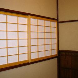 Custom Japanese Shoji Screens - Custom shoji screens for a Japanese tea house made by Pacific Shoji Works