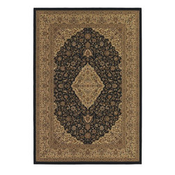 """Couristan - European Izmir 2'x3'11"""" Rectangle Black Area Rug - The Izmir area rug Collection offers an affordable assortment of European stylings. Izmir features a blend of natural Black color. Machine Made of 100% Heat-Set Courtron Polypropylene the Izmir Collection is an intriguing compliment to any decor."""