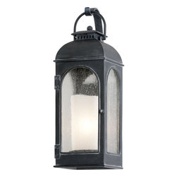 "Troy Lighting - Troy Lighting B3281 Derby 1 Light 18"" Outdoor Wall Sconce with Seedy Glass - Troy Lighting B3281 Derby 1 Light 17.5"" High Outdoor Wall SconceWith a faux candle interior diffuser and antique style frame, the lights of the Derby Collection look like they might be found at a coach stop in England.Troy Lighting B3281 Features:"