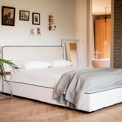 Furniture - Gardiner bed. Modern style at a great price. In stock and ready to ship in queen and king size.