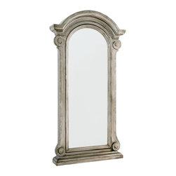 Hammary - Hammary Jessica McClintock Tarnished Zinc Floor Mirror - Tarnished Zinc Floor Mirror Belongs to Jessica McClintock Collection by Hammary