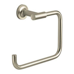 KOHLER - KOHLER K-14441-BN Purist Towel Ring - KOHLER K-14441-BN Purist Towel Ring in Vibrant Brushed Nickel