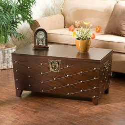 Caldwell Trunk Cocktail Table, Espresso - I love this as a coffee table.