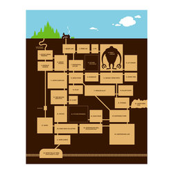 Hybrid-Home - Limited Edition Print Secret Hideout - We've all dreamt it. Remember way back when? Secret pathways, secret places — even secret handshakes and secret passwords. Go ahead. Feed your imagination with this intriguing print.