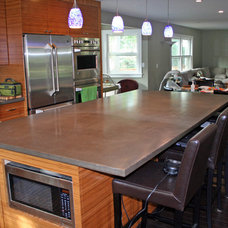 modern kitchen countertops by Concrete Arts