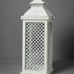 Piscine Lantern - This pagoda-inspired lantern will add exotic style to your space, indoors or out.