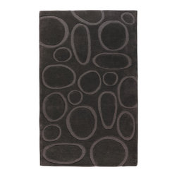 Lulu, Hand-Tufted Wool Rug - Lulu is one of our classic designs resembling the patterns of beach rocks, stacks of wood and frozen bubbles in the ice. angela adams hand-tufted wool rugs are incredibly unique, textural and timeless. Made with 100% New Zealand wool. Cut and loop pile.
