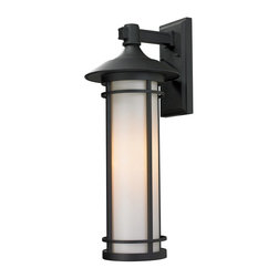 Z-Lite - Outdoor Aluminum Frame Wall Mount Lantern - Todays contemporary homes as well as homes of the craftsmen style are particularly well suited with the classic styling of this large outdoor wall mount.