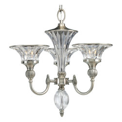 Thomasville Lighting by Progress - Thomasville Lighting P4504-101 Roxbury Silver 3 Light Chandelier - Thomasville Lighting P4504-101 Roxbury Silver 3 Light Chandelier