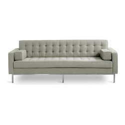 """Gus Modern Spencer Sofa - """"At least now I can get a comfortable sofa."""" I remember Jennifer Aniston saying something like this after she was jilted by amateur modernist Brad Pitt. Perhaps if this squared-off yet tufted model had been around back then, their marriage could have lasted; it's a great compromise between a minimalist and someone seeking comfort."""