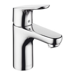 Hansgrohe - Hansgrohe 04371000 Chrome Focus Focus Bathroom Faucet Single Hole with - Features:All brass faucet body and handle constructionFully covered under Hansgrohe s limited lifetime warrantyHansgrohe faucets are designed and engineered in GermanySuperior finishing process - finishes will resist corrosion and tarnishing through everyday useSingle lever handle operationADA compliant- complies with the standards set forth by the Americans with Disabilities Act for bathroom faucetsLow lead compliant- meeting federal and state regulations for lead contentDesigned for use with standard U.S. plumbing connectionsAll hardware needed for mounting is included with faucetIncludes metal pop-up drain assemblyProduct Technologies / Benefits: EcoRight: With the addition of a special flow limitation system these faucets by Hansgrohe reduce water consumption by up to 60%. While conventional bathroom mixing faucets will use up to 3- 1/2 gallons-per-minute, EcoRight faucets reduce that need to around 1- 1/2 GPM. The EcoRight aerator is integrated into the spout of the faucet enriching the water with air; the result is a full, bubbling jet of water, making conservation simple with virtually no sacrifice.QuickClean: Calcareous water, dirt, cleaning agents; faucets and showers have to be able to withstand a lot. QuickClean technology gives you the power to make residues disappear in an instant. With the silicon nozzles Hansgrohe has fitted to its faucet aerators and shower jets, dirt and limescale can be rubbed off with ease. This innovation adds infinite value, as products that are well maintained and limescale free remain functional and last longer.ComfortZone Faucet:  These tall, expansive faucets provide an extra-comfortable hand washing experience. Ceramic cartridges offer smooth, noise-free operation, while a linear flow diagram provides pl
