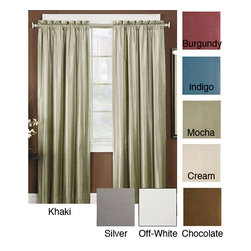 None - Thermal Backed Iridescent Curtain Panel Pair - Iridescent thermal curtain panels add a touch of shimmer to your windows,providing an attractive look for your home decor. These beautiful curtains are available in several colors with a lining that helps block sunlight and lower energy costs.