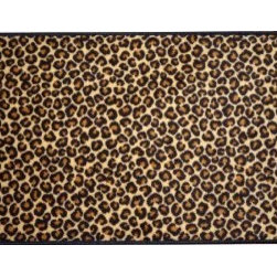 Dean Flooring Company - Dean Leopard Animal Print 2' x 3' Carpet Mat Accent Rug Size 2' x 3' - Dean Leopard Animal Print 2' x 3' Carpet Mat Accent Rug Size 2' x 3' : Leopard Premium Carpet Mat Accent Rug. 2' x 3'. 100 % Nylon. Edges are finished with color matching yarn. Made in the USA! Great price! Matches Dean Flooring Company stair treads.