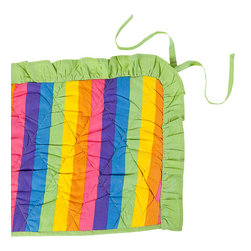 Sin in Linen - Rainbow Crib Bumper - Totally awesome! Your little one will go gaga over this colorful baby bedding.