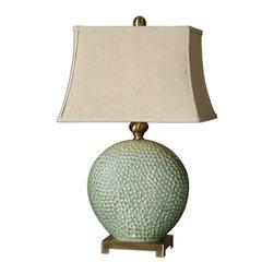 Uttermost - Dripped Aquamarine Destin Lamp - Dripped Aquamarine Destin Lamp