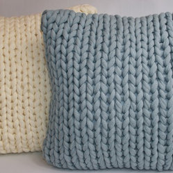 Braided Sweater Knit Accent Pillow