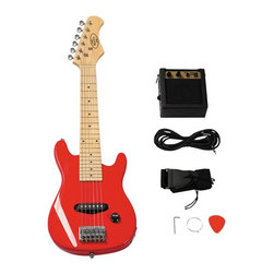 Berry Toys - Berry Toys 30 in. Electric Guitar Set - Red - MKAGT30-ST3-RD - Shop for Toy Instruments from Hayneedle.com! In the effort to take your child's education seriously and ensure a firm grasp of elementary studies - like Hendrix Zeppelin and The Who; consider the Berry Toys 30 in. Electric Guitar Set - Red your child's number 2 pencil. This sweet setup includes everything your child needs to get playing right away. As your child practices he or she will develop something more than just a better understanding of musical comprehension and appreciation. Early music education has in fact been linked to physical coordination as well as better lateral thinking. And as your child's competency grows a healthy self-confidence will soon follow along.Additional Features:5-watt amplifierShoulder strap: 1.5W in.3M cable cordPicks: 30mmPearl white guitar pegMachine heads: chrome openRegulator: Volume X11 single-coil pickup 1 out jackAbout Berry ToysBased in Chino Hills California Berry Toys is a leading manufacturer of children's toys. Berry Toys aims to educate children through play and their toy selection includes play kitchens play foods musical instruments play tools and more. If you want affordable pricing quality customer service and educational toys that are manufactured according to the highest standards Berry Toys can deliver.