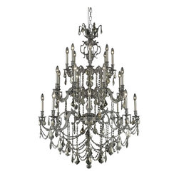 Elegant Lighting - Elegant Lighting 9524G38PW-GT/RC Marseille Collection Large Hanging Fixture - Elegant Lighting 9524G38PW-GT/RC Marseille Collection Large Hanging Fixture