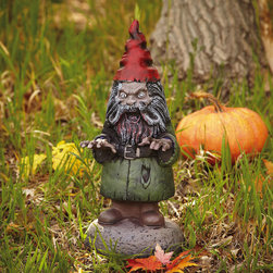 Horror Gnome - Even the friendly garden gnome can turn ghoulish. This guy will scare anyone who dares to enter the garden.