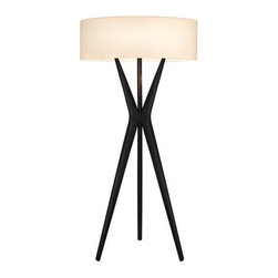 Robert Sonneman Lighting - Robert Sonneman Lighting 6151.25 Bel Air 3 Light Floor Lamps in Satin Black - Bel Air Small Floor Lamp