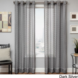 None - Ariel Sheer Grommet Top Curtain Panel - Give your home a splash of contemporary elegance with the Ariel grommet top curtain panel. Crafted with a billowy sheer design,this beautiful curtain will instantly update any room.