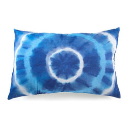 Lava - Blue Tie Dye 16X24 Pillow (Indoor/Outdoor) - 100% polyester cover and fill.  Suitable for use indoors or out.  Made in USA.  Spot Clean only