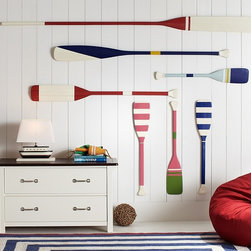 Oar Decor - These oars are perfect and would make a such a welcoming nautical statement in an entryway.
