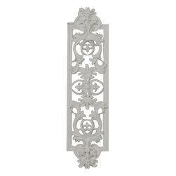 """Ekena Millwork - 5 7/8""""W x 22 1/4""""H x 1""""P Avery Onlay - 5 7/8""""W x 22 1/4""""H x 1""""P Avery Onlay. Our appliques and onlays are the perfect accent pieces to cabinetry, furniture, fireplace mantels, ceilings, and more. Each pattern is carefully crafted after traditional and historical designs. Each polyurethane piece is easily installed, just like wood pieces, with simple glues and finish nails. Another benefit of polyurethane is it will not rot or crack, and is impervious to insect manifestations. It comes to you factory primed and ready for your paint, faux finish, gel stain, marbleizing and more."""