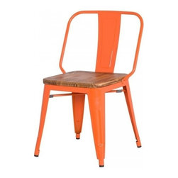 Apt2B - Grand Metal Chair, Set of 4, Orange - Meet our newest love - The Grand. Available in a variety of cool colors, you can mix and match to suit your style. Versatile and modern, this counter chair can go anywhere and look grand.