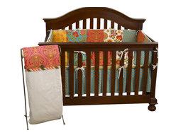 Cotton Tale Designs - Gypsy 4pc Crib Bedding Set - Gypsy 4pc crib bedding by Cotton Tale Designs is a wonderful blend of warm colors and beautiful, stimulating patterns.
