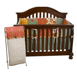 Cotton Tale Designs - Gypsy 4pc Crib Bedding Set - Gypsy 4pc crib bedding by Cotton Tale Designs is a wonderful blend of warm colors and beautiful, stimulating patterns.