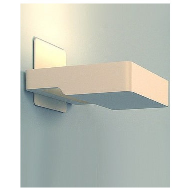 "Artemide - Square wall sconce - Product Description:  The Square wall sconce from Artemide has been designed by A+A Cooren 2008. This wall mounted luminaire is great for indirect halogen or fluorescent lighting The Square is composed of body in die-cast aluminum with matte white or light gray painted finish. High efficiency reflector in anodized aluminum with lamp glass protector on halogen version, fluorescent version equipped with thermally protected, class P, high power factor 120V electronic fluorescent ballast (277V optional). This fixture embraces fresh style and functionality certain to fit wonderfully within any space it resides.     Details:                                              Manufacturer:                                          Artemide                                                              Designer:                                          A+A Cooren 2008                                                              Made in:                                          Italy                                                              Dimensions:                                          Height: 7.75"" (19.7 cm) X Width: 6.75"" (17.1 cm)                                                                             Light bulb:                                          1 X 300W halogen or 1 X 18W fluorescent                                                                             Material:                                          Die-cast aluminum"