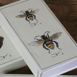 Bee Matches - It is all in the details. Candle lovers delight with these artful and useful candle lighting accessories. Made for those who require the perfect finishing touches to their d�cor. The Bee Matches have a delightful print on the box and are great for giving or keeping for ones self to ignite candles and set the mood.