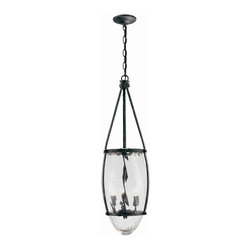 World Imports - Crystal Elegance 3 Light Pendant in Natural I - Manufacturer SKU: WI595493. Bulbs not included. Solid brass with faceted fire molded crystals that are hand-polished. Crystal Elegance Collection. 3 Lights. Power: 60w. Type of bulb: Candelabra. Natural Iron finish. 10 ft. Chain & 12 ft. Wire. 11 in. D x 32 in. H (14 lbs.)Timeless for any home and any room of the home. Surprise your guest with a crystal close to ceiling fixture in their closet or bathroom. The perfect size to dress up any room of the home and to be used in multiple rooms to transition from room to room.