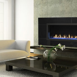 Fireplaces - Heat & Glo RED 60 with LED illumination and Blue Crystals