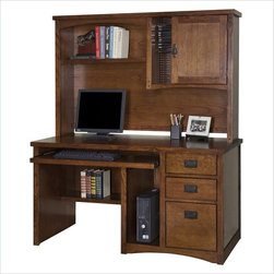 Martin Furniture - Kathy Ireland Home by Martin Mission Pasadena Wood Computer Desk and Hutch - Martin Furniture - Computer Desks - MP540PKG