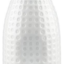 Sake Bottle - This is a perfect and unexpected carafe for your nightstand. I love the crisp, dotty, white finish. This would be darling in a guest bedroom, but I probably won't give mine up.