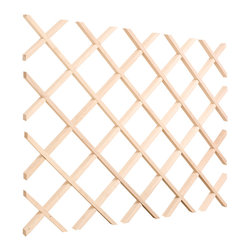 "Hardware Resources - 36"" x 36"" x 7/8"" Wine Lattice Rack with inner box.Species:Hard Maple. - 36"" x 36"" x 7/8"" Wine Lattice Rack with inner box.  Species:  Hard Maple.  Sold individually."
