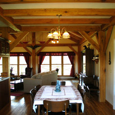 Craftsman Dining Room by Homestead Timber Frames