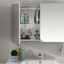 Hastings - Hastings - Sonia Medicine Cabinet w/2 Doors and 1 Glass Shelf - 153442 - 35 Inch width, Shipping Weight: 55 lbs