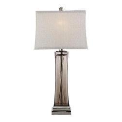 Bassett Mirror - Tribeca Smoked Glass Table Lamp - Tribeca Smoked Glass Table Lamp by Bassett Mirror