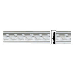 Renovators Supply - Crown Moldings White Urethane Emily - Crown Molding - Ornate   19286 - Crown Moldings: Made of virtually indestructible high-density urethane our crown molding is cast from steel molds guaranteeing the highest quality on the market. High-precision steel molds provide a higher quality pattern consistency, design clarity and overall strength and durability. Lightweight they are easily installed with no special skills. Unlike plaster or wood urethane is resistant to cracking, warping or peeling.  Factory-primed our crown molding is ready for finishing.  Measures 1 5/8 in H x 79 3/4 inch L.