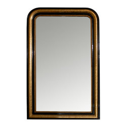 Consigned Louis Philippe Mirror - Gilty as charged! This antique mirror — with original glass intact — features a gilt edge that's been delicately etched for an exquisite finish. Circa 1840, the piece is a welcome addition to your antiques collection.
