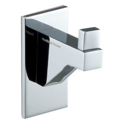 Cristal Small Towel Robe Hook. Polished Chrome